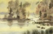 水彩景色 1 1 水彩景色 绘画壁纸