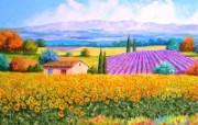 法国田园 手绘油画壁纸 1600x1200 壁纸4 法国田园 手绘油画壁 绘画壁纸
