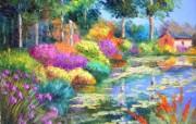 法国田园 手绘油画壁纸 1600x1200 壁纸9 法国田园 手绘油画壁 绘画壁纸
