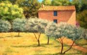 法国田园 手绘油画壁纸 1600x1200 壁纸12 法国田园 手绘油画壁 绘画壁纸