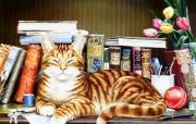 Geoffrey Tristram 猫咪绘画作品 绘画壁纸