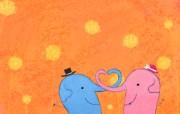 韩国童趣涂鸦 绘画壁纸