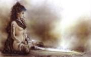 黑暗妖艳幻想插画 Luis Royo作品 Subversive Beauty 黑暗妖艳 奇幻美女插画 黑暗妖艳幻想插画Luis Royo作品《Subversive Beauty》 绘画壁纸