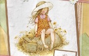 Holly Hobbie温馨儿童手绘壁纸 绘画壁纸