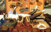 画家笔下的可爱猫咪Charles Wysocki 猫咪绘画 绘画壁纸