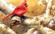 画家笔下的可爱小鸟手绘小鸟壁纸 绘画壁纸