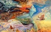 华丽幻想艺术 Josephine Wall 天国的精灵插画集 飞翔的精灵 华丽奇幻精灵插画壁纸 华丽幻想艺术Josephine Wall 天国的精灵画集 绘画壁纸