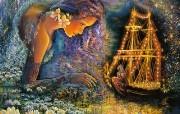 华丽幻想艺术 Josephine Wall 天国的精灵插画集 星光船 华丽奇幻精灵插画壁纸 华丽幻想艺术Josephine Wall 天国的精灵画集 绘画壁纸