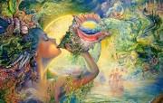 华丽幻想艺术 Josephine Wall 天国的精灵插画集 大海的呼唤 华丽奇幻精灵插画壁纸 华丽幻想艺术Josephine Wall 天国的精灵画集 绘画壁纸