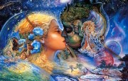 华丽幻想艺术 Josephine Wall 天国的精灵插画集 Cosmic Kiss Mystical Fantasy Illustration of Josephine Wall 华丽幻想艺术Josephine Wall 天国的精灵画集 绘画壁纸