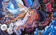 华丽幻想艺术 Josephine Wall 天国的精灵插画集 Eros and Psyche Josephine Wall Fantasy Art Illustration 华丽幻想艺术Josephine Wall 天国的精灵画集 绘画壁纸