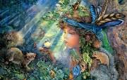 华丽幻想艺术 Josephine Wall 天国的精灵插画集 Mystical Fantasy Art Illustration of Josephine Wall 华丽幻想艺术Josephine Wall 天国的精灵画集 绘画壁纸