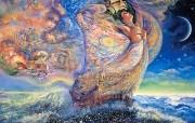 华丽幻想艺术 Josephine Wall 天国的精灵插画集 海洋之梦 华丽奇幻精灵插画壁纸 华丽幻想艺术Josephine Wall 天国的精灵画集 绘画壁纸