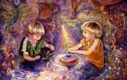 华丽幻想艺术 Josephine Wall 天国的精灵插画集 The Magic Spinning Top Josephine Wall Fantasy Art Illustration 华丽幻想艺术Josephine Wall 天国的精灵画集 绘画壁纸
