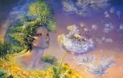 华丽幻想艺术 Josephine Wall 天国的精灵插画集 时间飞翔 华丽奇幻精灵插画壁纸 华丽幻想艺术Josephine Wall 天国的精灵画集 绘画壁纸