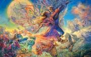 华丽幻想艺术 Josephine Wall 天国的精灵插画集 Titania and Oberon Two Josephine Wall Fantasy Art Illustration 华丽幻想艺术Josephine Wall 天国的精灵画集 绘画壁纸