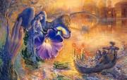 华丽幻想艺术 Josephine Wall 天国的精灵插画集 夜幕天使 华丽奇幻精灵插画壁纸 华丽幻想艺术Josephine Wall 天国的精灵画集 绘画壁纸