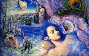华丽幻想艺术 Josephine Wall 天国的精灵插画集 梦中的耳语 华丽奇幻精灵插画壁纸 华丽幻想艺术Josephine Wall 天国的精灵画集 绘画壁纸