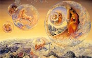 华丽幻想艺术 Josephine Wall 天国的精灵插画集 Bubbles of Freedom 华丽奇幻精灵插画壁纸 华丽幻想艺术Josephine Wall 天国的精灵画集 绘画壁纸