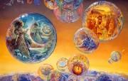 华丽幻想艺术 Josephine Wall 天国的精灵插画集 Bubbles of Time 华丽奇幻精灵插画壁纸 华丽幻想艺术Josephine Wall 天国的精灵画集 绘画壁纸
