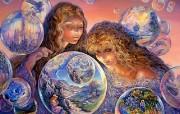 华丽幻想艺术 Josephine Wall 天国的精灵插画集 Bubble World Josephine Wall Fantasy Art Illustration 华丽幻想艺术Josephine Wall 天国的精灵画集 绘画壁纸