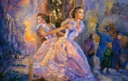 华丽幻想艺术:天国的 绘画壁纸