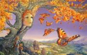 华丽幻想艺术 天国的天国 壁纸8 华丽幻想艺术:天国的 绘画壁纸