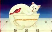 绘画动物趣味猫咪一kriebel 作品制作 绘画壁纸