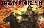 Iron Maiden 重金属乐队专辑插画壁纸 Death on the road Iron Maiden 重金属音乐专辑插画 Iron Maiden 重金属乐队专辑插画壁纸 绘画壁纸