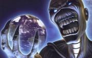 Iron Maiden 重金属乐队专辑插画壁纸 恐怖骷髅 Different world Iron Maiden 重金属音乐专辑插画 Iron Maiden 重金属乐队专辑插画壁纸 绘画壁纸