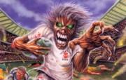 Iron Maiden 重金属乐队专辑插画壁纸 Iron Maiden 骷髅魔鬼 Iron Maiden 重金属乐队黑暗插画 Iron Maiden 重金属乐队专辑插画壁纸 绘画壁纸