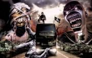 Iron Maiden 重金属乐队专辑插画壁纸 重金属恐怖骷髅插画 Derek Riggs 重金属黑暗插画 Iron Maiden 重金属乐队专辑插画壁纸 绘画壁纸