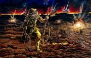 Iron Maiden 重金属乐队专辑插画壁纸 Paschendale Iron Maiden 重金属乐队黑暗插画 Iron Maiden 重金属乐队专辑插画壁纸 绘画壁纸