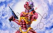 Iron Maiden 重金属乐队专辑插画壁纸 恐怖骷髅魔鬼插画 Derek Riggs 重金属黑暗插画 Iron Maiden 重金属乐队专辑插画壁纸 绘画壁纸