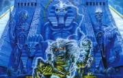 Iron Maiden 重金属乐队专辑插画壁纸 重金属骷髅魔鬼插画 Derek Riggs 重金属黑暗插画 Iron Maiden 重金属乐队专辑插画壁纸 绘画壁纸