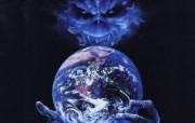 Iron Maiden 重金属乐队专辑插画壁纸 Out of the silent planet Iron Maiden 重金属乐队黑暗插画 Iron Maiden 重金属乐队专辑插画壁纸 绘画壁纸