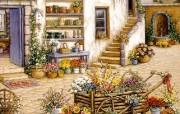 欢迎到我的花园来 Janet Kruskamp 绘画壁纸 庭院花店 我的花园 Welcome to My Garden Janet Kruskamp 手绘《欢迎到我的花园来》 绘画壁纸