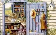 欢迎到我的花园来 Janet Kruskamp 绘画壁纸 古典浪漫花园手绘壁纸 Welcome to My Garden Janet Kruskamp 手绘《欢迎到我的花园来》 绘画壁纸