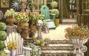 欢迎到我的花园来 Janet Kruskamp 绘画壁纸 Trawick 的园艺店 我的花园 Welcome to My Garden Janet Kruskamp 手绘《欢迎到我的花园来》 绘画壁纸