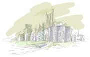 简笔城市风光 2 9 简笔城市风光 绘画壁纸