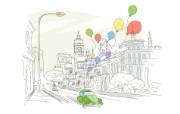 简笔城市风光 2 8 简笔城市风光 绘画壁纸