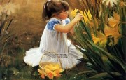 金色童年儿童水彩画壁纸二 绘画壁纸