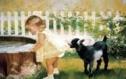 金色童年 二 法国画家 Donald Zolan 儿童水彩画集 小麻烦 趣味童年时光图片 金色童年儿童水彩画壁纸二 绘画壁纸