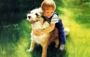 金色童年 二 法国画家 Donald Zolan 儿童水彩画集 后院的伙伴 趣味童年时光图片 金色童年儿童水彩画壁纸二 绘画壁纸