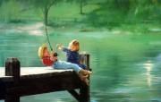 金色童年 二 法国画家 Donald Zolan 儿童水彩画集 两小无猜 童年生活水彩画图片 金色童年儿童水彩画壁纸二 绘画壁纸