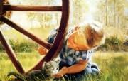 金色童年 二 法国画家 Donald Zolan 儿童水彩画集 小猫咪 童年 儿童节绘画壁纸 金色童年儿童水彩画壁纸二 绘画壁纸