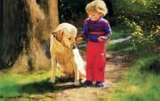 金色童年 二 法国画家 Donald Zolan 儿童水彩画集 森林朋友 童年生活水彩画图片 金色童年儿童水彩画壁纸二 绘画壁纸