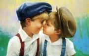 金色童年 二 法国画家 Donald Zolan 儿童水彩画集 兄弟 童年 儿童节绘画壁纸 金色童年儿童水彩画壁纸二 绘画壁纸