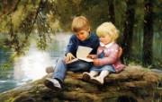 金色童年 二 法国画家 Donald Zolan 儿童水彩画集 森林故事 童年生活水彩画图片 金色童年儿童水彩画壁纸二 绘画壁纸