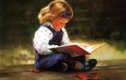 金色童年 二 法国画家 Donald Zolan 儿童水彩画集 安静时刻 儿童水彩画壁纸 金色童年儿童水彩画壁纸二 绘画壁纸